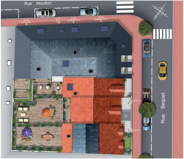 Investir Rueil Malmaison plan de masse villa josephine