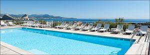 Villeneuve-Loubet terrasse avec piscine